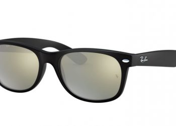 Ray-Ban New Wayfarer Flash - Schwarz & Silber Flash