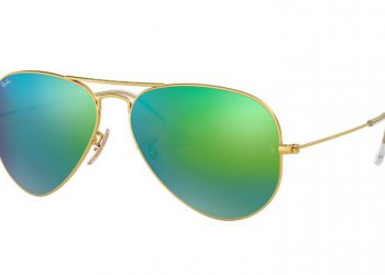 Ray-Ban Aviator Flash - Gold & Grüne Flash