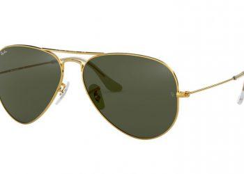 Ray-Ban Aviator Mirror - Gold glänzend & Grün klassisch