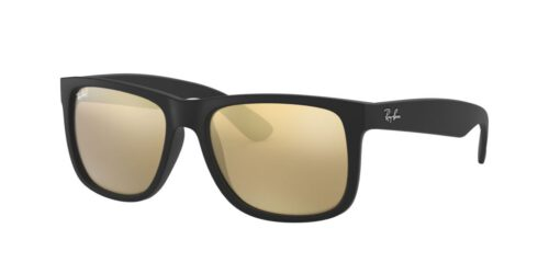 Ray Ban Justin Color Mix - Schwarz & Gold Verspiegelt